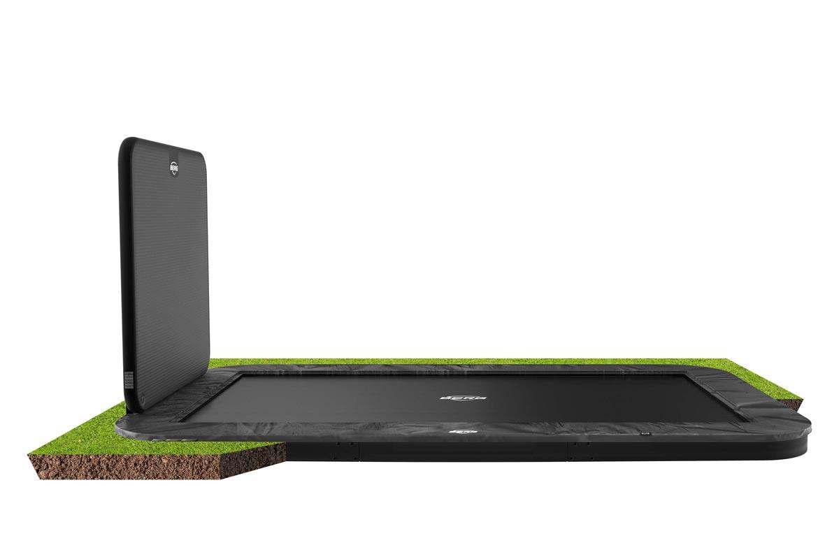 BERG Trampolin Ultim Elite FlatGround 500 + AeroWall 2x2 BLK&GRY