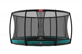 BERG Trampolin Champion InGround 270 + Sicherheitsnetz Deluxe