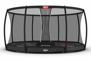 BERG Trampolin Elite InGround 430 Levels + Sicherheitsnetz Deluxe
