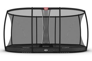 BERG Trampolin Grand Elite InGround 520 + Sicherheitsnetz DLX XL