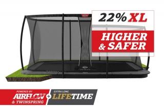 BERG Trampolin Ultim Champion FlatGround 410 + Sicherheitsnetz DLX XL