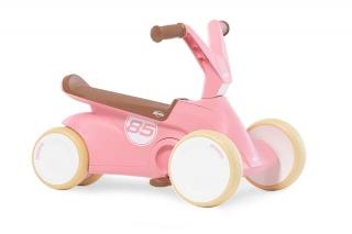 BERG GO² Retro Pink Rutscher-Tretauto